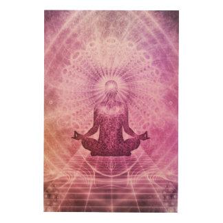 Spiritual Yoga Meditation Zen Colorful Wood Print