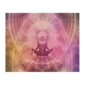 Spiritual Yoga Meditation Zen Colorful Wood Wall Art
