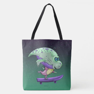 SPIRO ALIEN MONSTER All-Over-Print Tote Bag Large