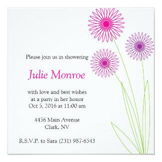 Spiro Flowers Bridal Shower 3 Personalized Invite