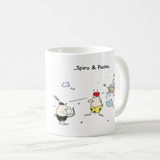 Spiro & Pusho Aim Cartoons Mug