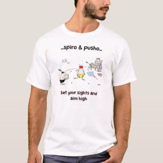 Spiro & Pusho Aim Quotes Cartoons T-Shirt