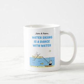 Spiro & Pusho Water Skiing Motivational Quotes Mug