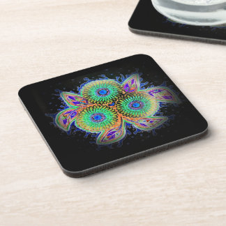 Spirograph floral coasters set of 6