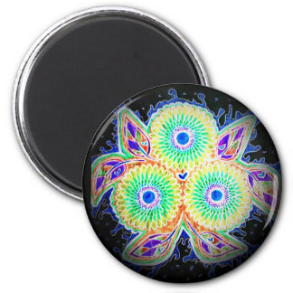 Spirograph floral magnet