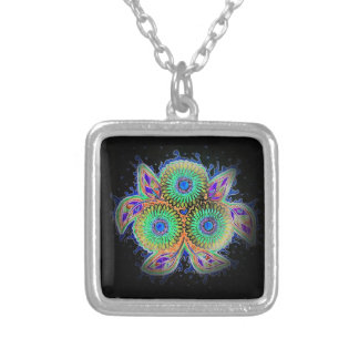 Spirograph floral necklace