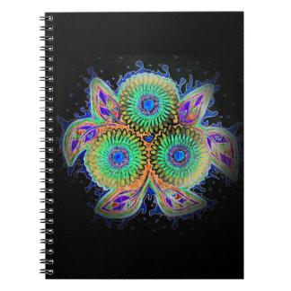 Spirograph floral notebook
