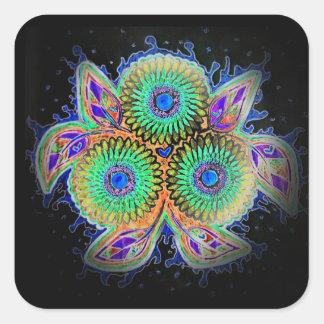 Spirograph floral sticker