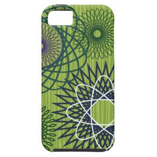 Spirograph Geometric Pattern Blue Green Tough iPhone 5 Case