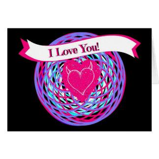 Spirograph Hearts I Love You Card