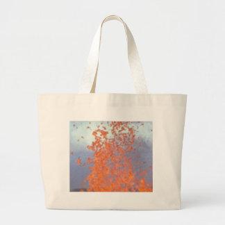 spit of lava large tote bag