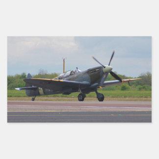 Spitfire After Landing Rectangular Sticker