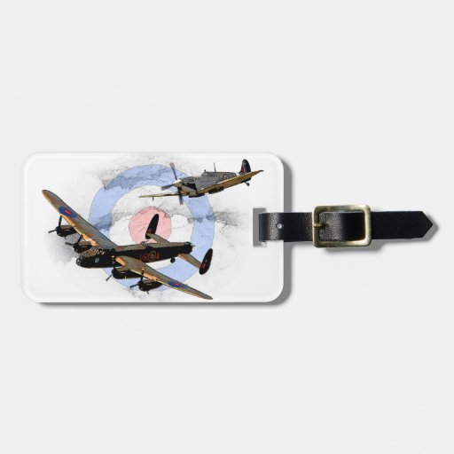 Spitfire and Lancaster Travel Bag Tags