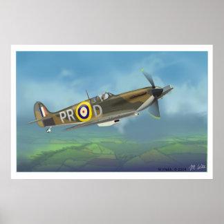 Spitfire Fighter Poster