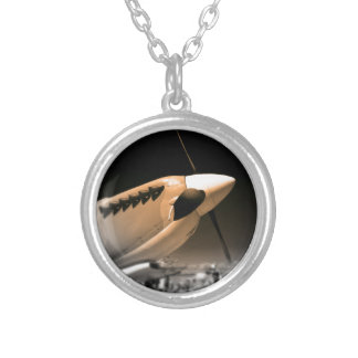 Spitfire Mk 1A aircraft Silver Plated Necklace
