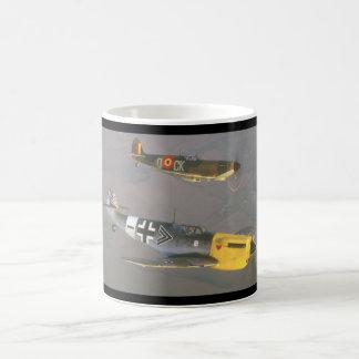 Spitfire (top) and Messerschmitt_Military Aircraft Coffee Mug