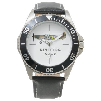 SPITFIRE | WWII aircraft illustration Wrist Watch