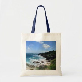 Spittal Pond Coastal Panorma Tote Bags