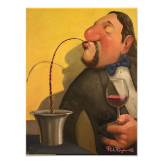 Spitting-Sommelier Photo Print