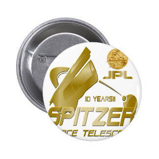 Spitzer Space Telescope 10th Anniversary Buttons