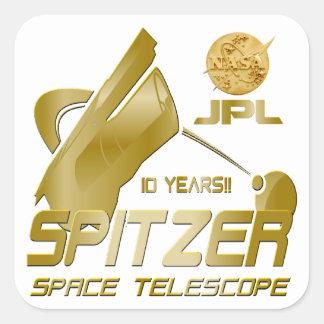 Spitzer Space Telescope Square Sticker
