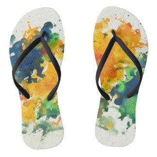 Splash Art Colorful Thongs