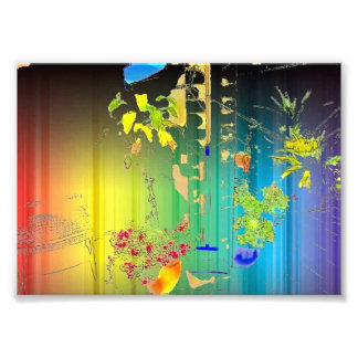 Splash art photographic print