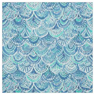 SPLASH Blue Watercolor Mermaid Scales Fabric