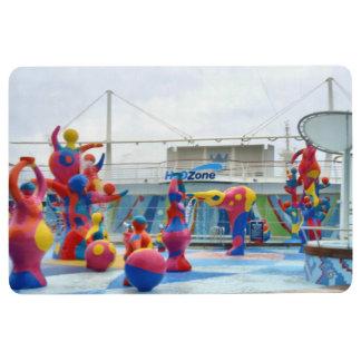 Splash Color Floor Mat