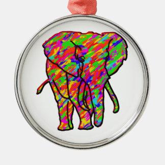 Splash Elephant Metal Ornament