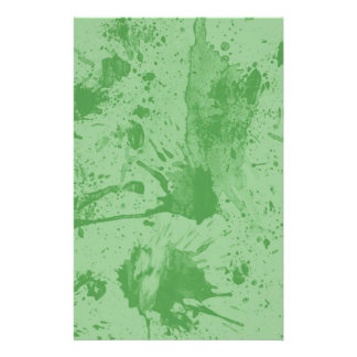 splash green customised stationery