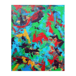 Splash-Hand Painted Abstract Brushstrokes Acrylic Print