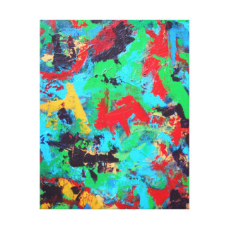 Splash-Hand Painted Abstract Brushstrokes Canvas Print