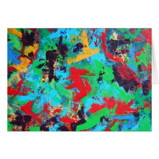Splash-Hand Painted Abstract Brushstrokes Card