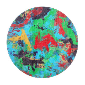 Splash-Hand Painted Abstract Brushstrokes Cutting Board