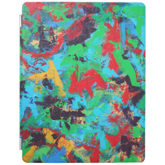 Splash-Hand Painted Abstract Brushstrokes iPad Cover