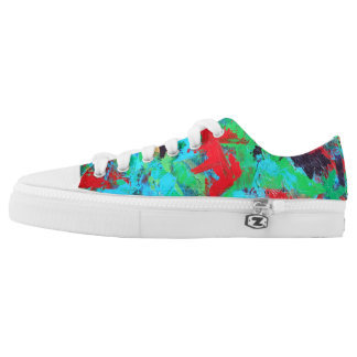 Splash-Hand Painted Abstract Brushstrokes Low Tops