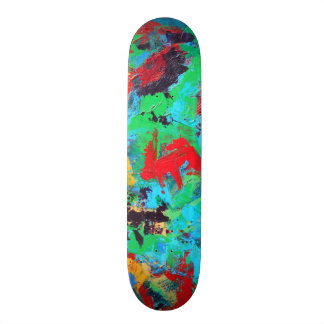 Splash-Hand Painted Abstract Brushstrokes Skate Decks