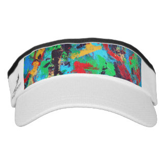 Splash-Hand Painted Abstract Brushstrokes Visor