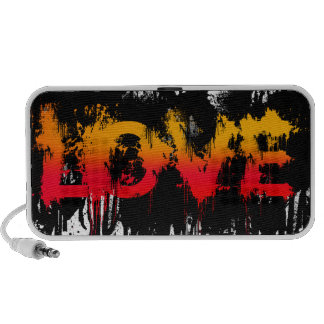 Splash Love Text iPod Speakers