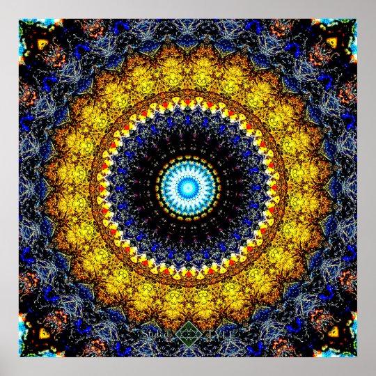 Splash Mandala Poster