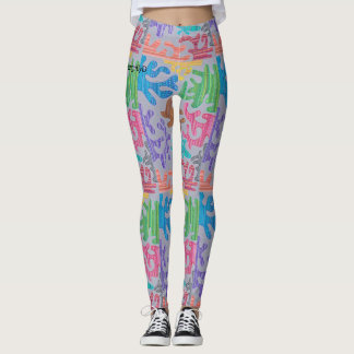 splash of color leggings