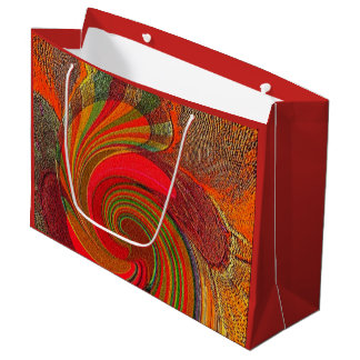 """Splash of Fizz"" Large Glossy Gift Bag"