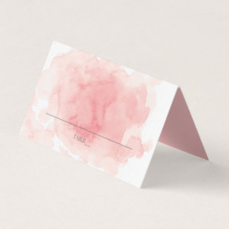 Splash of Pink Wedding Place Cards