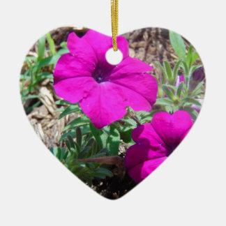 Splash of purple ceramic heart decoration