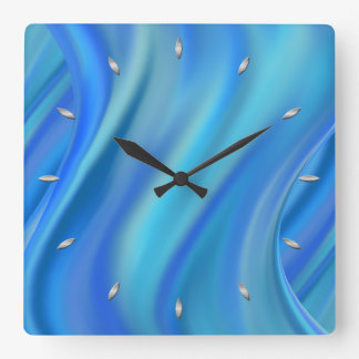 splash square wall clock