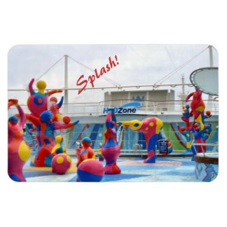 Splash with Color Rectangular Photo Magnet
