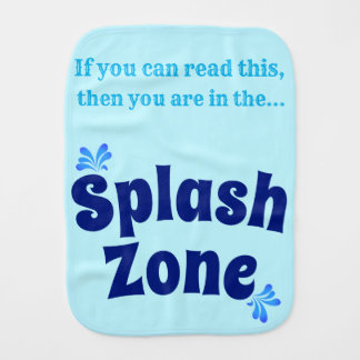 Splash Zone Burp Cloth