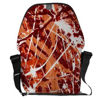 SPLASHDOWN! (an abstract art design) ~ Courier Bag