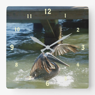 Splashdown Square Wall Clock